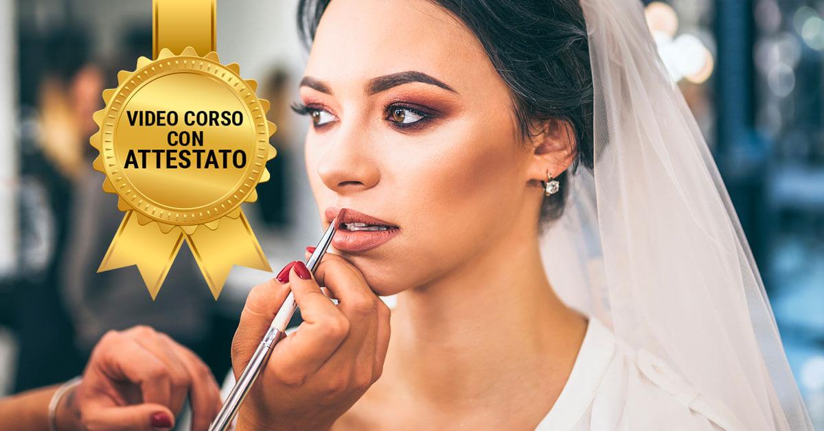 corso make-up sposa giorno online con attestato